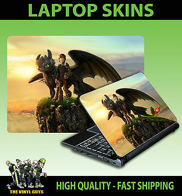 LAPTOP STICKER HOW TO TRAIN YOUR DRAGON TOOTHLESS 01 HICCUP VINYL SKIN GRAPHIC