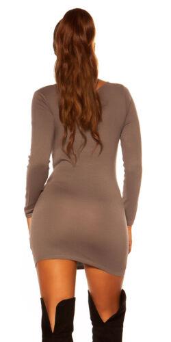 Koucla Strick Pulli Longpullover Minikleid Pullover Sweater