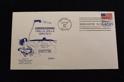 ssn-701 Brillant Drw Marine Abdeckung #21 Commissioning Uss La Jolla 1981 Maschine Grade Produkte Nach QualitäT