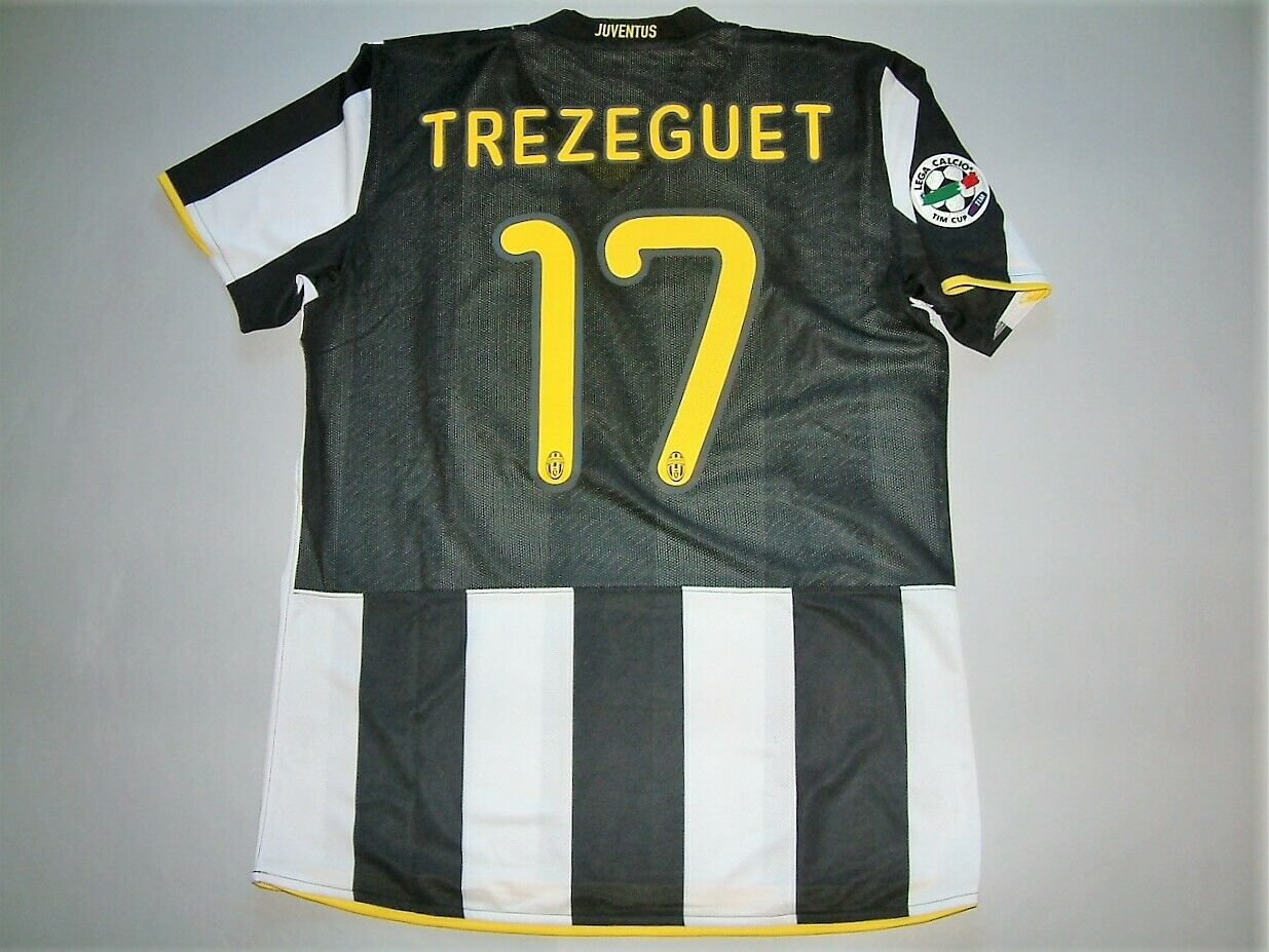 TREZEGUET JUVENTUS HOME MCSS match issued 20082009 TIM CUP CUP CUP vs Lazio aa7