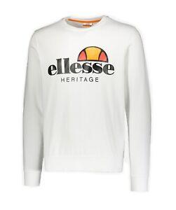 035f8b5667 Dettagli su Felpa Ellesse heritage uomo 792007 white ss19