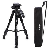 ZOMEI Professional Aluminium Travel Tripod Pan head + bag For Canon Nikon Camera