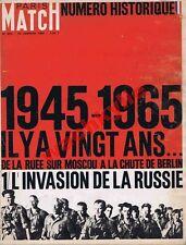 Paris Match n°823 du 16/01/1965 Invasion de la Russie 1945 Barbarossa Wehrmacht