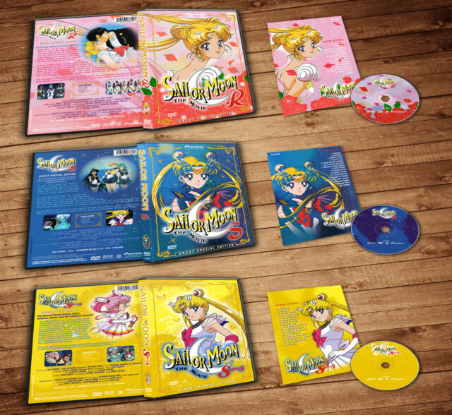 Sailor Moon R S Supers The Movies (3 Dvds)