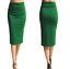 Ladies-Plain-Office-Womens-Stretch-Bodycon-Elegant-Midi-Pencil-Skirt-Dress-S-XXL thumbnail 6