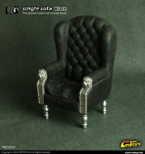 """1/6 Scale CMToys Black Single Sofa Chair Furniture Model F/12"""" Action Figure Toy"""