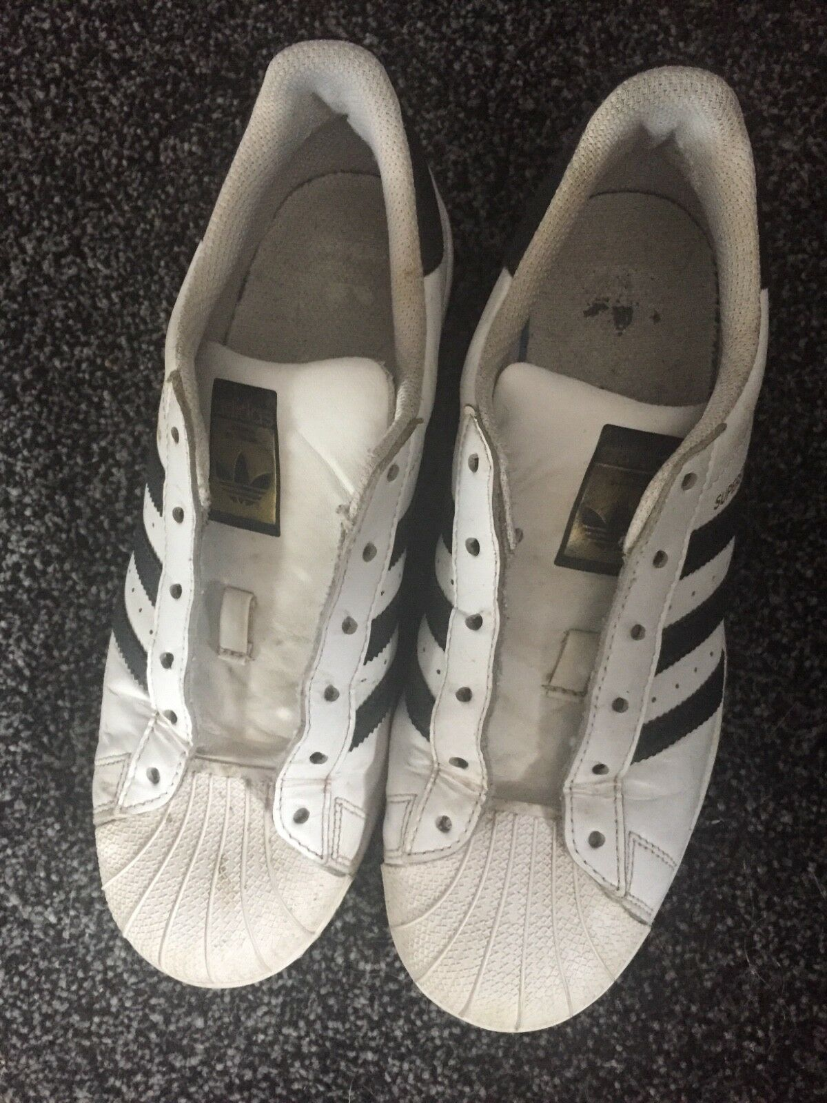 adidas superstars size 5.5 no laces Casual wild