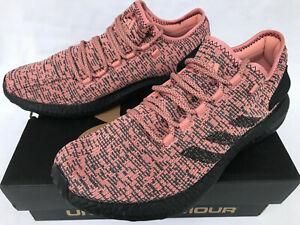60cac2370cbb7 Image is loading Adidas-PureBoost-CG2985-Salmon-PrimeKnit-Comfort-Marathon- Running-