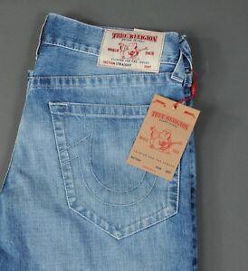 b95005d87 Men s New True Religion Jeans Straight Leg Natural Size 33 No Flap ...
