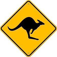 Kangaroo Oz Australia funny door road Sign Sticker Decal Graphic Vinyl Label