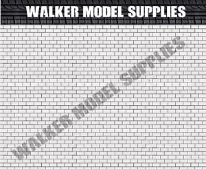 Peel and Apply sticker model car 7 1:64 scale 3xA4 Garage Brick wall