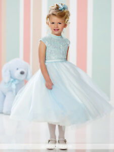 d21cec604bb NEW Girl s Joan Calabrese Blue Ivory FLOWER GIRL SPECIAL OCCASION ...