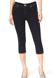 INC International Concepts Curvy-Fit Crop Skinny Leg Wash Jeans Sz 0 4 6 12 14