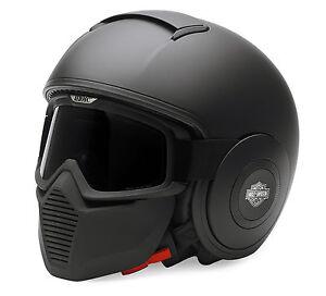 bb5869637c38f La foto se está cargando Harley-Davidson-Swat-Casco-Shark-RAW-Gafas-Mascara-