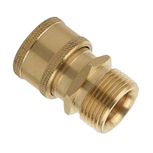 2 x Brass Garden Hose Quick Connector M22 x 1.5mm Male to M22 x 1.5mm Female