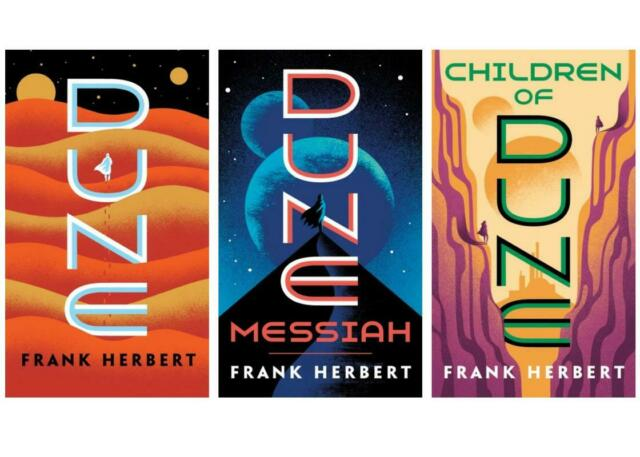 Classic DUNE Series by Frank Herbert *UPDATED 2019 COVER ART* Paperback Set 1-3