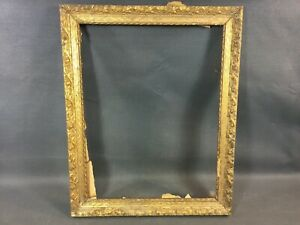 Antique-Photo-Frame-or-Painting-Wooden-and-Plaster-Carved-Golden-Vintage-Old