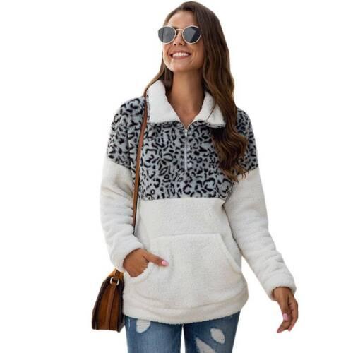 Winter Damen Stehkragen Pullover Pulli Sweatshirt Sweater Jumper Tops Übergröße