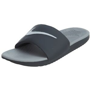 aa4c221db4ed82 Nike Men s Kawa Slide Sandal (832646 001) Dark Grey White Wolf Grey ...