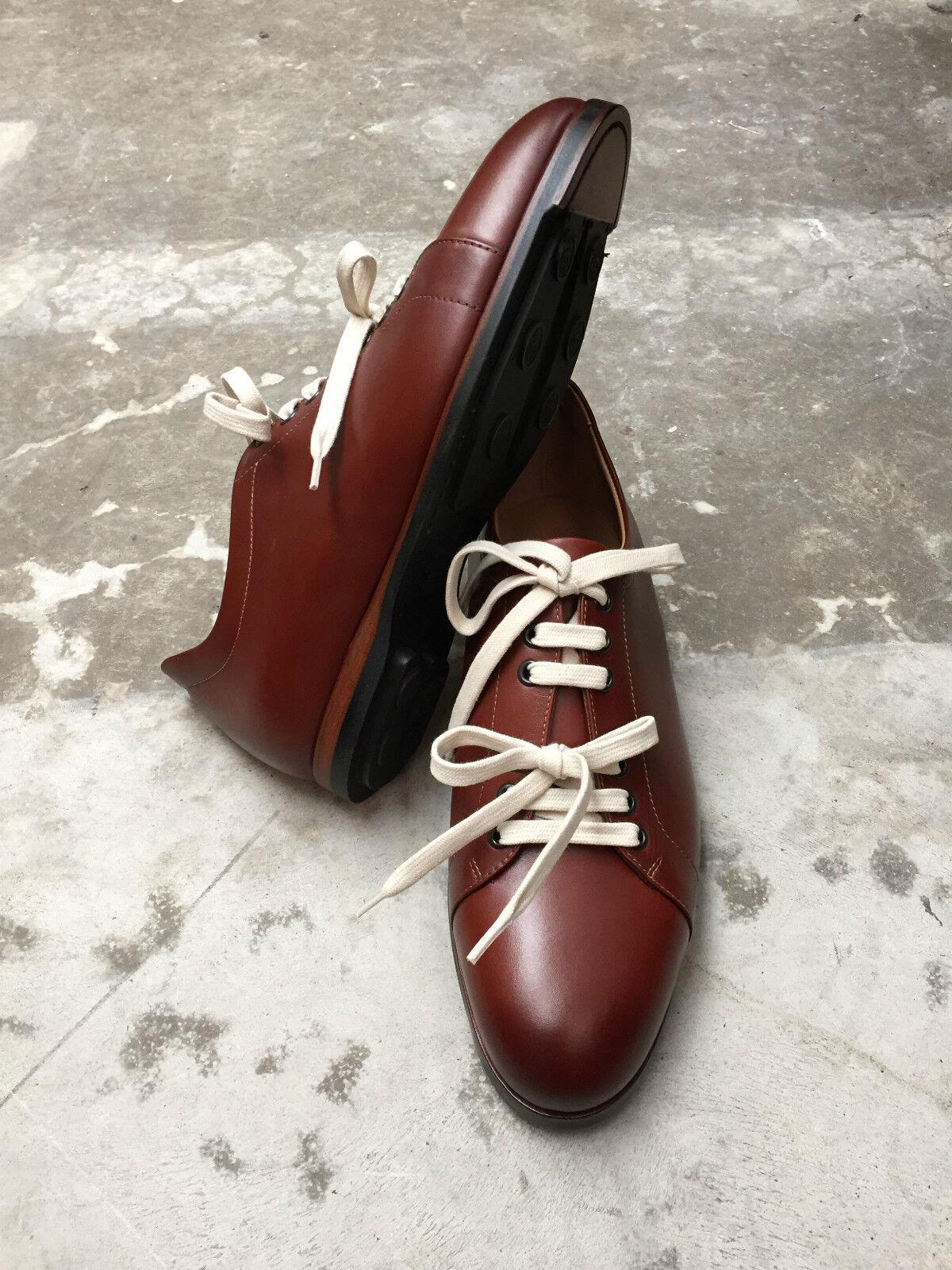 MAN - scarpe da ginnastica ginnastica ginnastica - CALF COGNAC - STITCHED RUBBER SOLE | Facile Da Pulire Surface  942e80