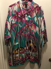 VTG 80s 90s Generra Hawaiian Palm Trees Cruise Wear Rayon Shirt Mens SZ XL. (S)