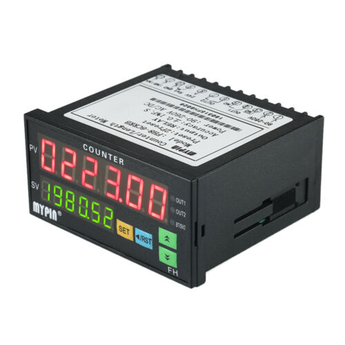 MYPIN FH8-6CRRB Dual LED Display Digital Counter Length Meter Relay Output E5F8