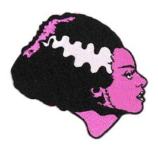 "Rock Rebel The Bride Of Frankenstein In Pink Fabric Patch Unisex 2"" By 3"""