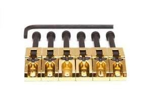 Graph Tech Floyd Rose String Saver Saddles, Gold 6 pcs PG-0080-G6 NEW