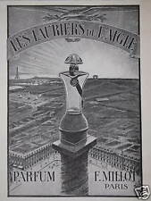 PUBLICITÉ PARFUM F.MILLOT LES LAURIERS DE L'AIGLE