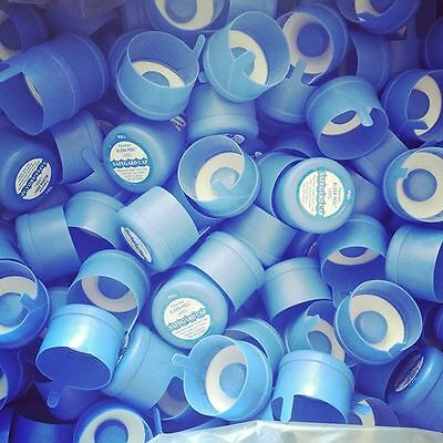 3 /& 5 Gallon Water Bottle Snap On Cap Anti Splash 55mm Peel Off Tops Lot of 10