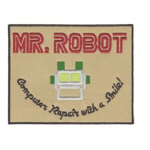 Mr Robot Computer Repair with a Smile Logo Patch Iron On Patch Sew On transfer - Chorley, Lancashire, United Kingdom - Mr Robot Computer Repair with a Smile Logo Patch Iron On Patch Sew On transfer - Chorley, Lancashire, United Kingdom