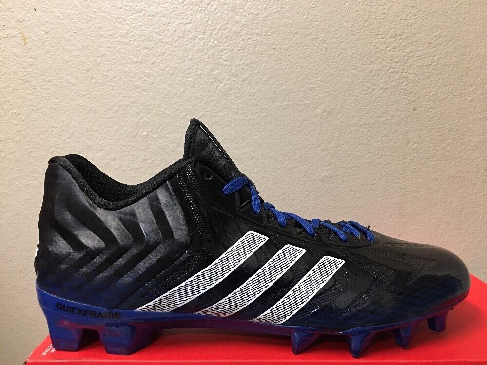 ADIDAS CRAZYQUICK men Football Cleats black/ blue/white Sz 12 Price reduction Wild casual shoes