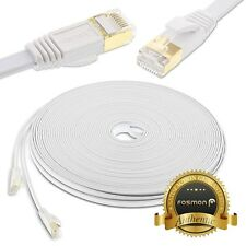 Fosmon 50FT Cat7 Slim Flat Network Ethernet LAN Patch Cable Cord for PS4 Xbox PC