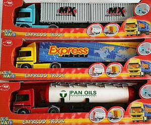 DICKIE-Spielzeugauto-LKW-Friktionsmotor-Truck-Silo-Kontainer-Koffer-Sattelzug