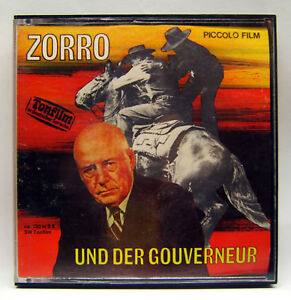 Piccolo-Ton-Film-367-Super-8-S-W-120-m-Zorro-und-der-Gouverneur-sehr-selten