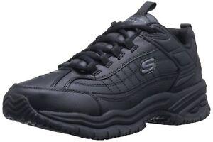 Skechers-for-Work-Men-039-s-76759-Soft-Stride-Galley-Work-Boot-Black-size-10W