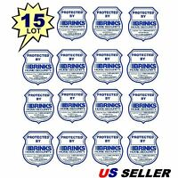 15 Brinks Adt Home Security Alarm System In Use Warning Sticker Decals Lot