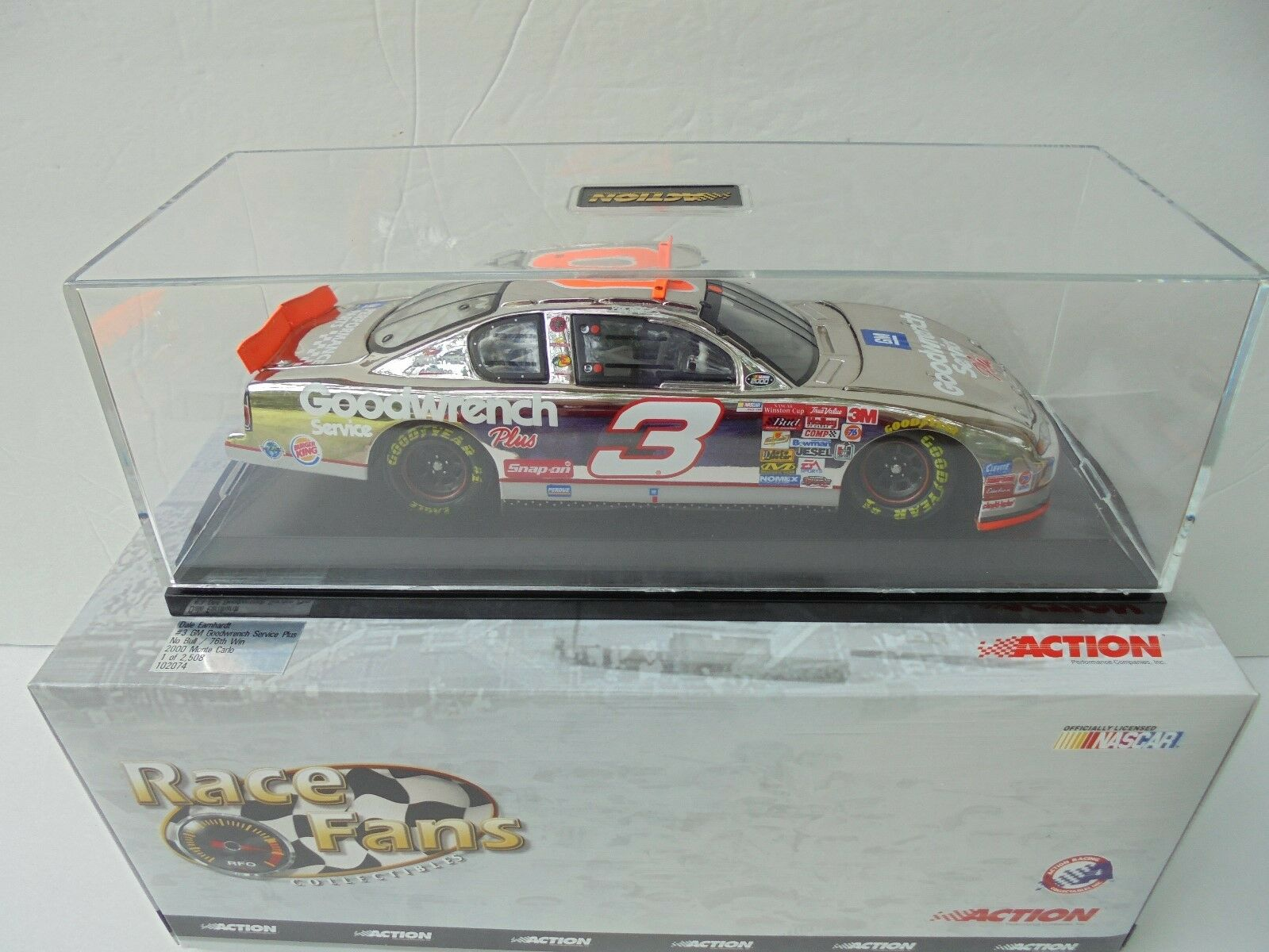Dale Earnhardt  3 GM Goodwrench 2000 PLATINUM No Bull 5 Nascar Diecast 76th Win