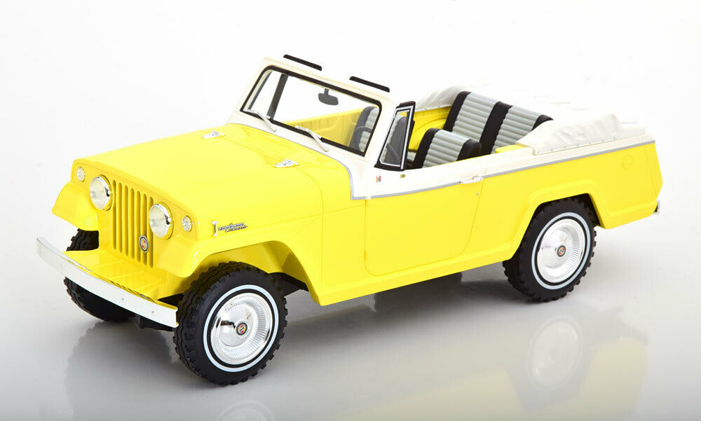 1970 Jeep Jeepster Commando ConGrünible Gelb by BoS Models LE of 252 1 18 New