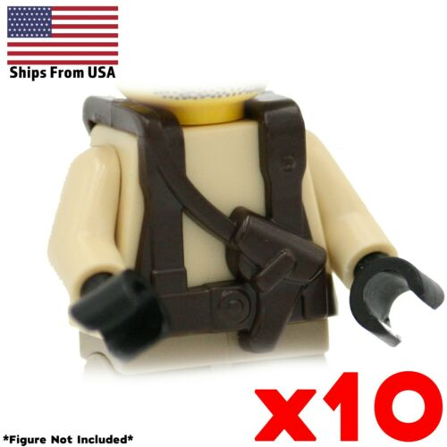 LEGO WWII Brown Vest Sling Pistol Army Modern Military Minifig Accessory Lot x10