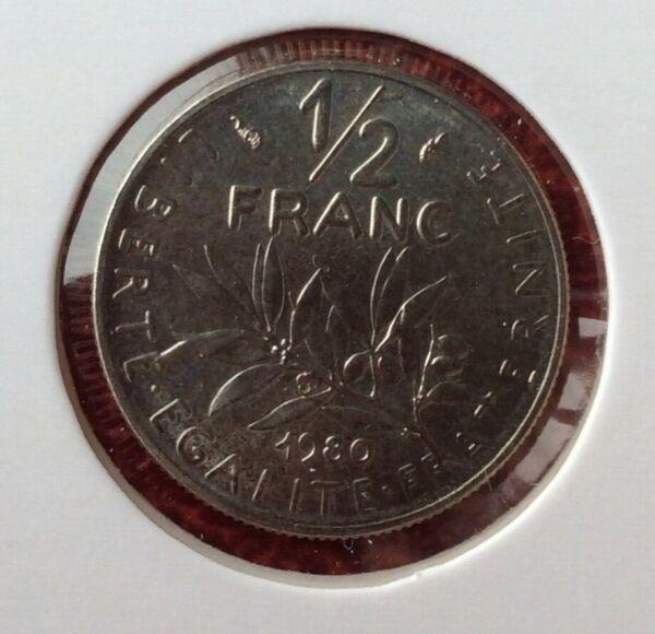 100% De Qualité France - Superbe Et Rare Monnaie De 1/2 Franc 1980 - 60.000 Ex La Qualité D'Abord