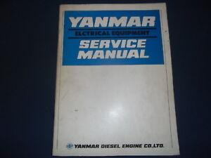 Yanmar electrical equipment service shop repair workshop manual | ebay.