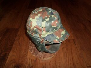 b7d38d11df1a95 Image is loading GENUINE-GERMAN-MILITARY-FLECTARN-CAMOUFLAGE-WINTER-CAP-HAT-