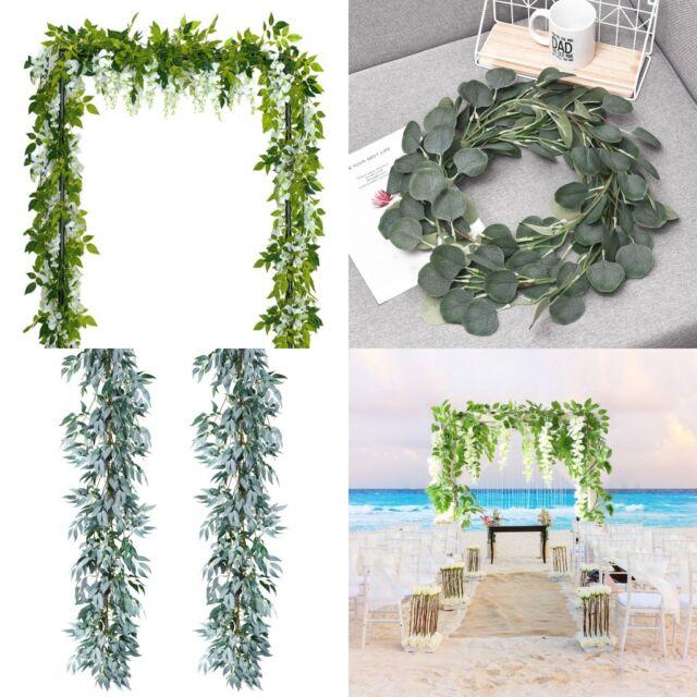 Handmade Simulation Cotton Garland Dried Flower Artificial Wreath For Wall Decor