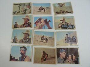 1966-Rat-Patrol-Trading-Card-Lot-x-12-Cards