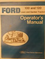 Ford 100 & 120 Gear Lawn Garden Tractor Owners & Jacobsen Parts (2 Manuals) 40pg
