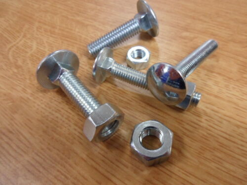 Coach Bolts Complete with Nuts 100 No M6 x 35mm Cup Sq Hex B.Z.P.