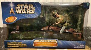 Princess-Leia-On-Speeder-Bike-12-034-Star-Wars-Figure-Endor-Forest-Chase-ROTJ