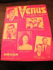 Partition Venus Frankie Avalon Luis Mariano Maria Candido Music Sheet 1959