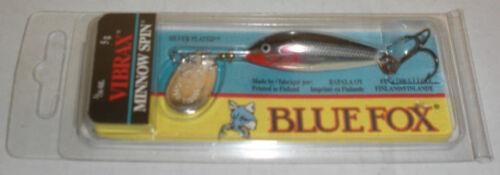Blue Fox 6830-623 Vibrax Minnowspin 3//16 Oz Plated//Silver 12309